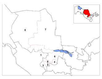 Districts of Uzbekistan - Districts of Navoiy