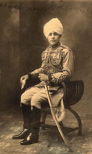 Hamidullah Khan - A young Nawab Hamidullah Khan
