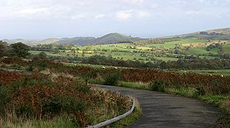 Shropshire Hills - View from below the Stiperstones looking NE towards the Hollies