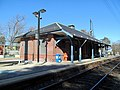 Needham Junction station from the southeast, March 2016.JPG