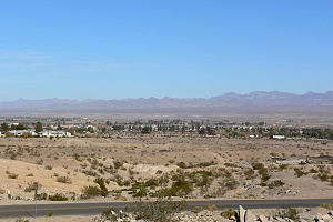 Black Mountains (Arizona) - Image: Needles California from southwest 1