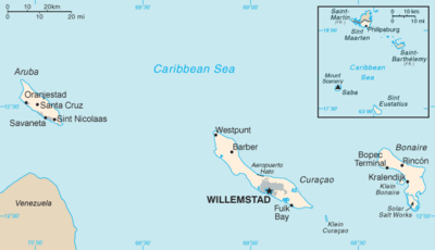 Netherlands Antilles Wikipedia - Caribbean map aruba