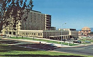 Letterman Army Hospital - Postcard showing the new Letterman Army Medical Center (LAMC) in the 1970s.