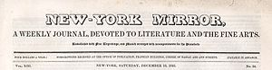 New-York Mirror - New-York Mirror, A Weekly Journal, Devoted to Literature and the Fine Arts, Vol. XIII, No. 24 (Saturday, December 12, 1835)