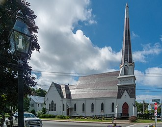 The New Church (Swedenborgian) - New Jerusalem Church, in Bridgewater, Massachusetts, is a congregation of the Swedenborgian Church of North America.