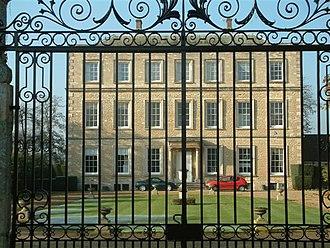 Newington, Oxfordshire - Newington Manor seen through its Grade II* listed wrought iron gates