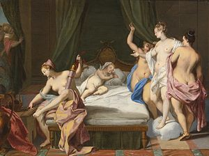 Nicolas Vleughels - Venus and the Three Graces Tending Cupid