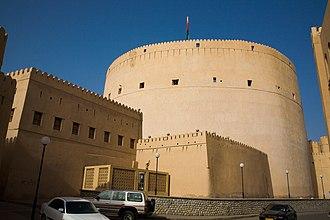 Sultan bin Saif - The round tower of the Nizwa Fort, built by Sultan bin Saif