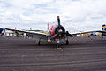 North American T-28A Trojan Navy NX28100 RNose SNF 16April2010 (14650340063).jpg