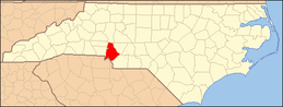 North Carolina Map Highlighting Mecklenburg County.PNG