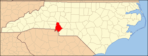 Locator Map of Mecklenburg County, North Carol...