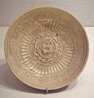 Northern Zhou - Northern Zhou dish inspired by Western metalwork, 557-581.