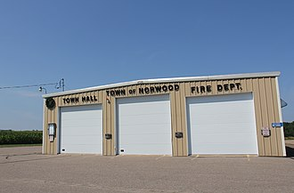 Norwood, Wisconsin - The town hall and fire department