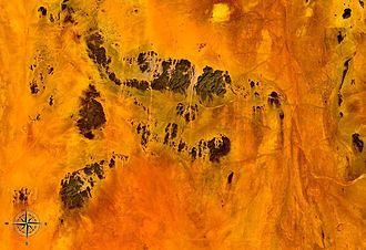 Nubian Desert - Fragment of Nubian Desert seen from space