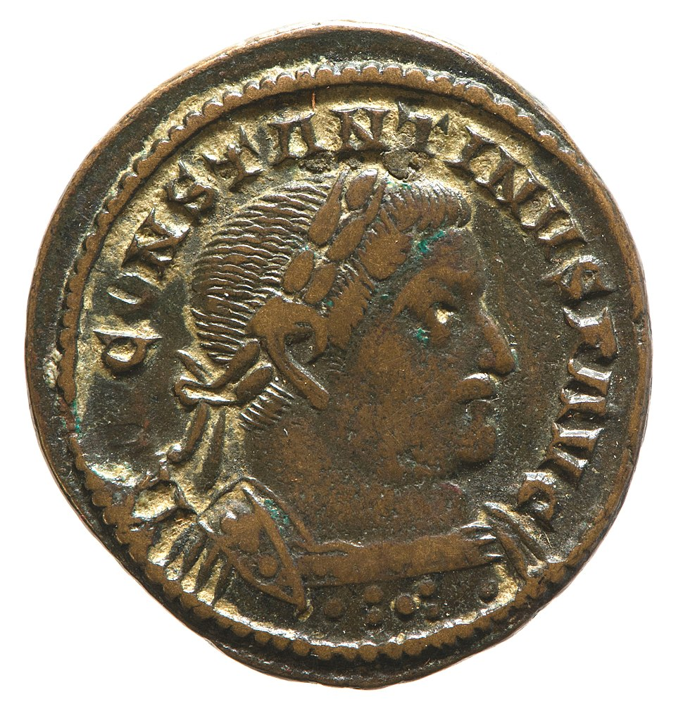 Nummus of Constantine (YORYM 2001 10313) obverse