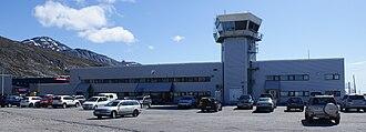 Nuuk Airport - The terminal at Nuuk Airport.