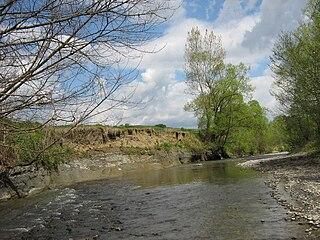 Niraj river in Romania