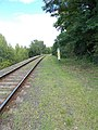 Nyergesújfalu felső train stop, E, sign, 2020 Nyergesújfalu.jpg