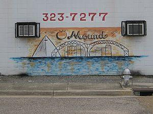 Orange Mound, Memphis - O-Mound mural