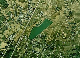 O-numa water reservoir in Oyama-city Aerial photograph.1974.jpg