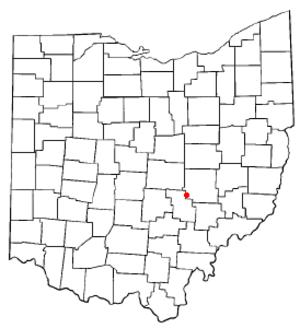 Fultonham, Ohio - Image: OH Map doton Fultonham
