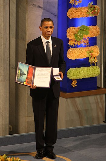 English: Nobel Peace Prize 2009, Barack Obama