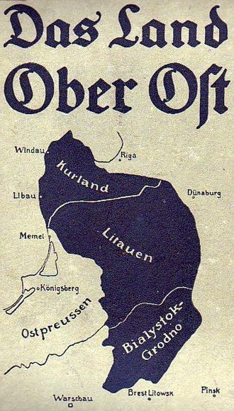 Courland - Public notice of the German Ober Ost region including Courland (Kurland) District in 1917