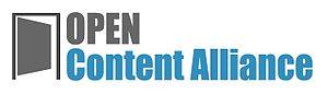 Open content - Open Content Alliance logo