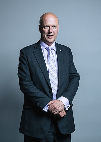 Secretary of State for Transport - Image: Official portrait of Chris Grayling