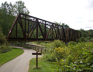 Oil Creek (Allegheny River) - Oil Creek State Park Railroad Bridge