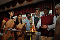 Oil Lamp Lighting - Inaugural Function - Ranchi Science Centre - Jharkhand 2010-11-29 9033.JPG