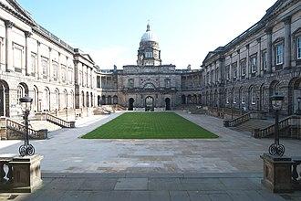 Regius Professor of Engineering (Edinburgh) - Image: Old College Quad