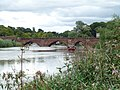 Old Dee Bridge, Chester - view of west side from south bank of River Dee 03.jpg