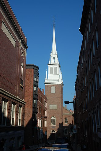 Episcopal Church (United States) - Old North Church in Boston. Inspired by the work of Christopher Wren, it was completed in 1723.