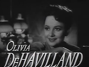 Cropped screenshot of Olivia de Havilland from...