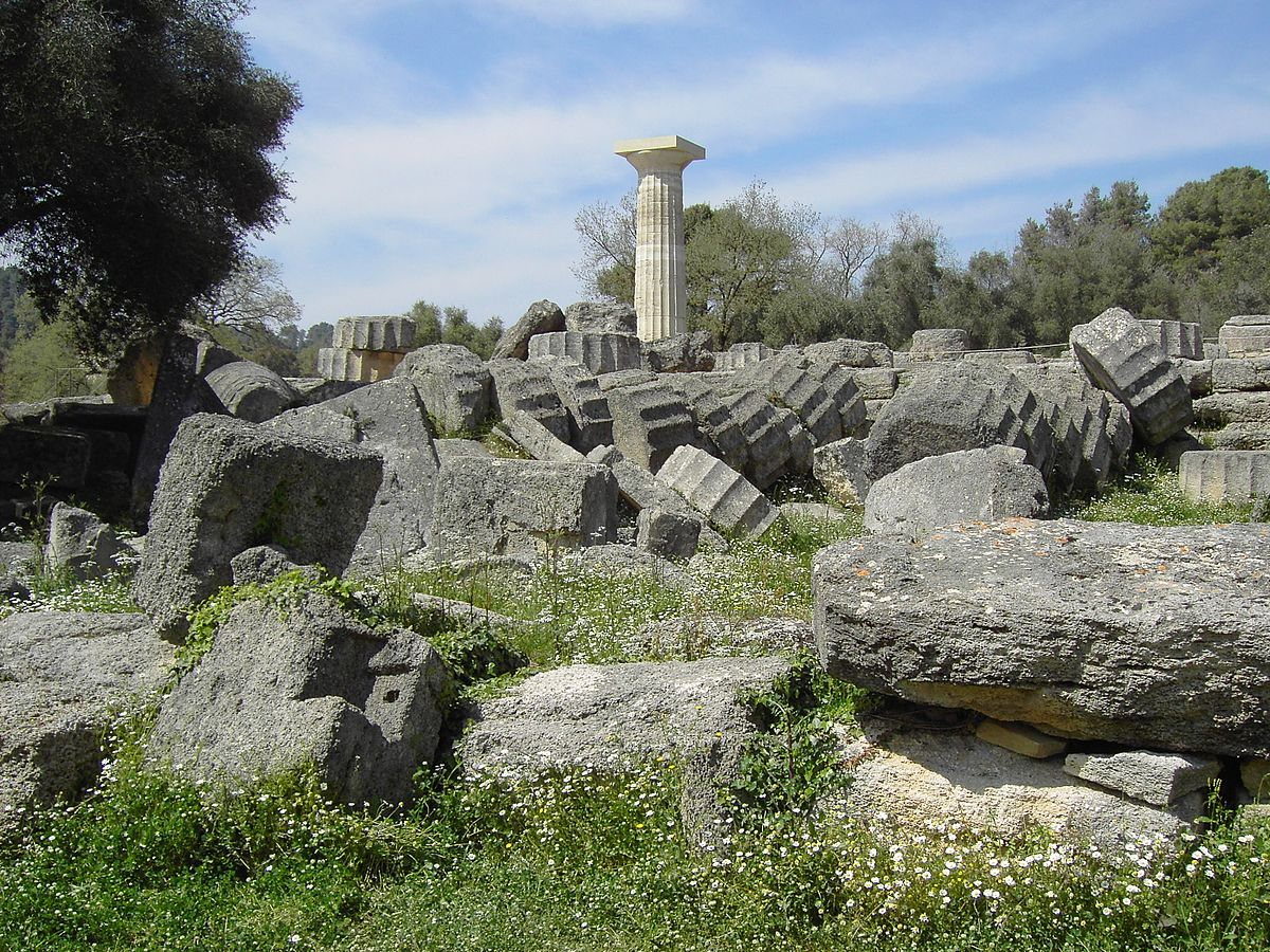 Temple Of Zeus In Olympia Wikimedia Commons