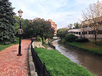 Onondaga Creekwalk - A section of the Creekwalk through Franklin Square
