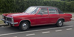 Opel Diplomat E automatic in red, front left.jpg
