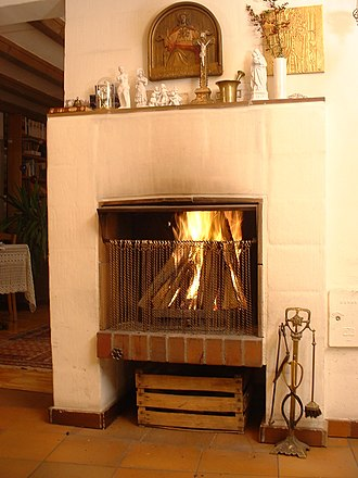 Fireplace - Modern open fireplace