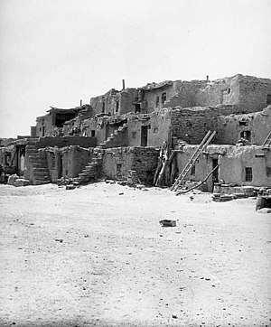 Oraibi, Arizona - Oraibi village, circa 1899