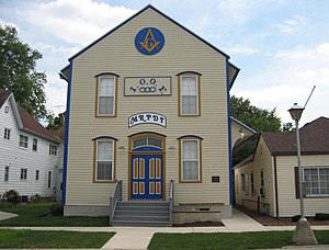 Orangeville, Illinois - The Orangeville Masonic Lodge was built by the AF and AM in 1876, but is used by all of Orangeville's fraternal organizations.