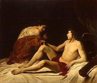 Orazio Gentileschi - Image: Orazio Gentileschi Cupid and Psyche WGA08577