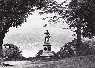 Custer Monument (West Point) - Image: Original location of Custer's Monument at West Point