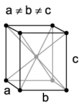 Orthohombic, body-centered