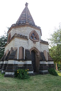 Orville Hungerford Mausoleum, Brookside Cemetery, Watertown, New York.jpg