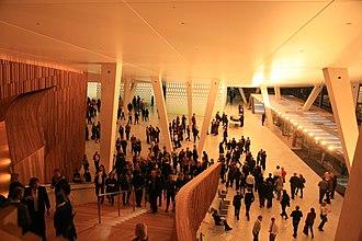 Oslo Opera House - Image: Oslo Opera Bjørvika 2008 03 25 12
