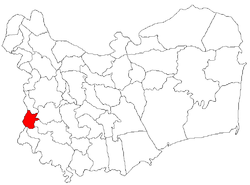 Location of Ostrov in Tulcea County