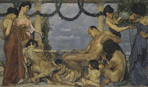 Otto Greiner - Herkules bei Omphale