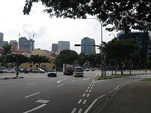 Bukit Merah - The Bukit Merah–Central Area boundary line along Outram Road as seen from Bukit Merah.