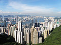 Overlook Hong Kong Island north coast, Victoria Harbour and Kowloon from Peak Tower at daytime.jpg